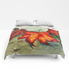 Autumn Leaves (Platanus) Comforters
