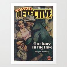 Private Detective Stories - November 1944 Art Print