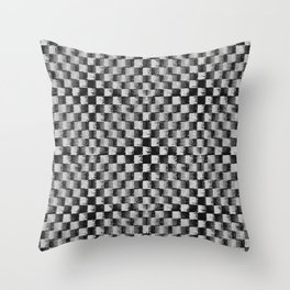 Edgy Checker (in shades of grey) Throw Pillow