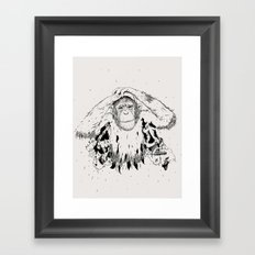 In the shadow of Man Framed Art Print