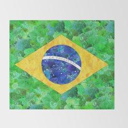 BRASIL em progresso Throw Blanket