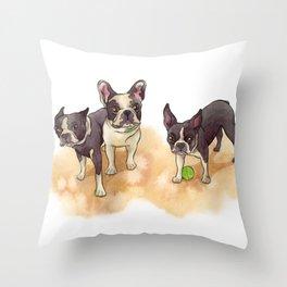 Bubba, Spanky & Figgy Throw Pillow