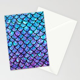 Purples & Blues Mermaid scales Stationery Cards