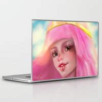 princess bubblegum Laptop & iPad Skins featuring Princess Bubblegum by ChrySsV