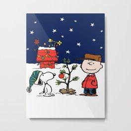 snoopy christmas Metal Print