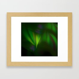 This fractal looks like aurora Framed Art Print