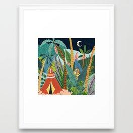 Jungle Tipi Tiger Framed Art Print