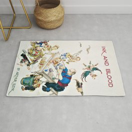 12,000pixel-500dpi - Arthur Szyk - Ink and Blood, Frontispiece - Digital Remastered Edition Rug
