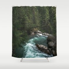 The Lost River - Pacific Northwest Shower Curtain