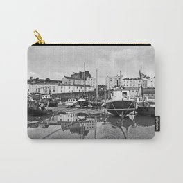 Tenby Harbour Boats.Pembrokeshire.B+W. Carry-All Pouch
