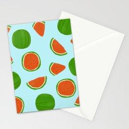 Summer fruit on blue Stationery Cards