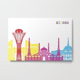 Astana skyline pop Metal Print