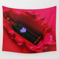 jewish Wall Tapestries featuring A jug of wine and thou  by Brown Eyed Lady