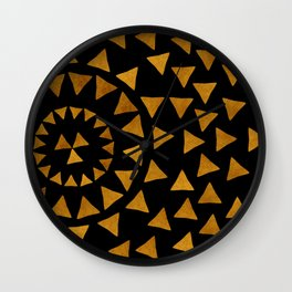 Dark Sun - Gold and Black Wall Clock