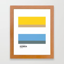 The Colors of - HOMER  Simpsons Framed Art Print