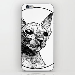 Inside out sphynx cat iPhone Skin