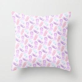 Vaporwave Pattern Throw Pillow