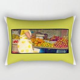 Torso at Fruit Stand, Chennai Rectangular Pillow