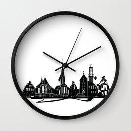 Moers Skyline Wall Clock