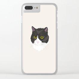 Casual Cat Clear iPhone Case