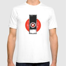 My Apologies. MEDIUM White Mens Fitted Tee