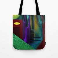 street Tote Bags featuring Street by Turul