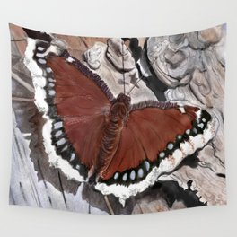 Cloak of Mourning Butterfly Wall Tapestry