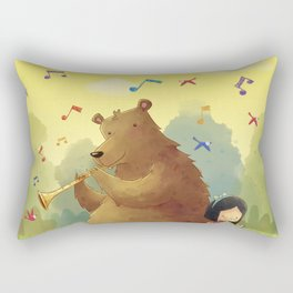 Friend Bear Rectangular Pillow