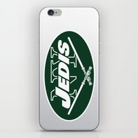 nfl iPhone & iPod Skins featuring New York Jedis - NFL by Steven Klock