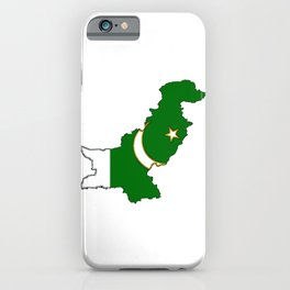 Pakistan Map with Pakistani Flag iPhone Case