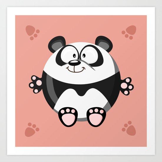 Panda from the circle series Art Print