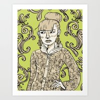 baroque Art Prints featuring Baroque  by Danielle Feigenbaum
