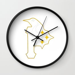 Penguins Pirates Wall Clock