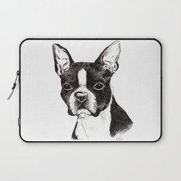 Boston Terrier Portrait Laptop Sleeve