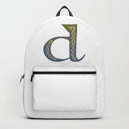 Celtic Knotwork Alphabet - Letter D Backpack