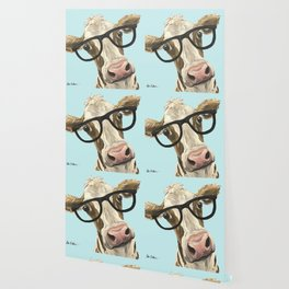 Cute Glasses Cow Up Close Cow With Glasses Wallpaper