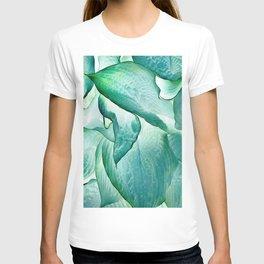 532 - Abstract hosta design T-shirt