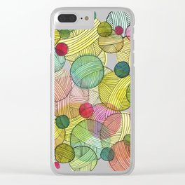 Yarn Stash Clear iPhone Case