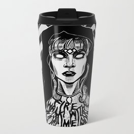 She's Filled with Secrets - Laura Palmer - Twin Peaks Metal Travel Mug