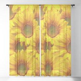 Yellow Mellow Sunflower Bouquet #decor #society6 #buyart Sheer Curtain