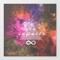 infinite Canvas Prints featuring Infinite by MJ Mor