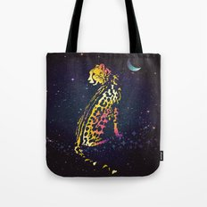 Space Leopard Tote Bag