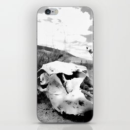 Desert Skull in Black and White Photography iPhone Skin