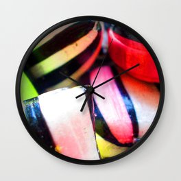 Liquorice Satin Candy Wall Clock