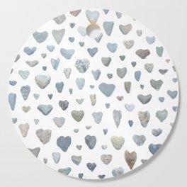Heart rocks Cutting Board
