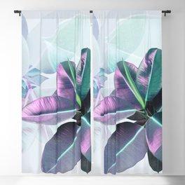 Violet Tropical Plant Blackout Curtain
