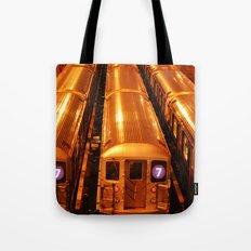 New York Queens Subway 7 Train Yard Tote Bag