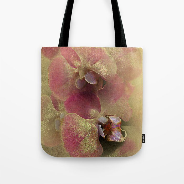 The mystery of orchid(gold). Tote Bag