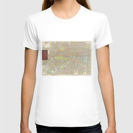 Vintage Map of London England (1910) T-shirt