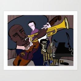 Jazz Brunch Art Print